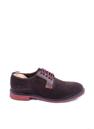 Wessi Erkek Süet Bağcıklı Klasik Ayakkabı Kahve